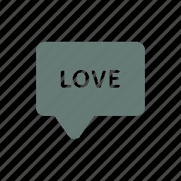 heart, letter, love, marriage, passion, romance, saint valentine icon