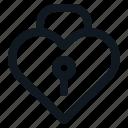 heart, lock, locked, love, valentine icon