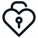 heart, lock, love, unlocked, valentine icon