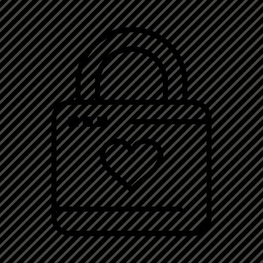 hacker, heart, lock, locker icon