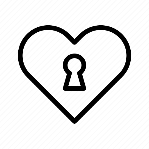 day, engagement, heart, lock, valentines, wedding icon