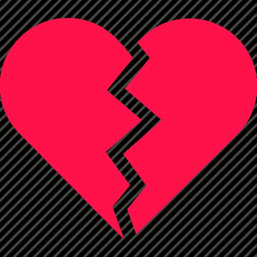 Break Broken Crack Heart Love Valentine Icon