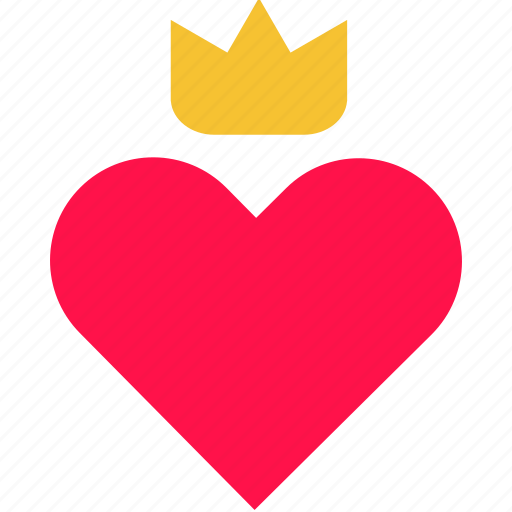 crown, heart, king, love, queen, royal, valentine icon