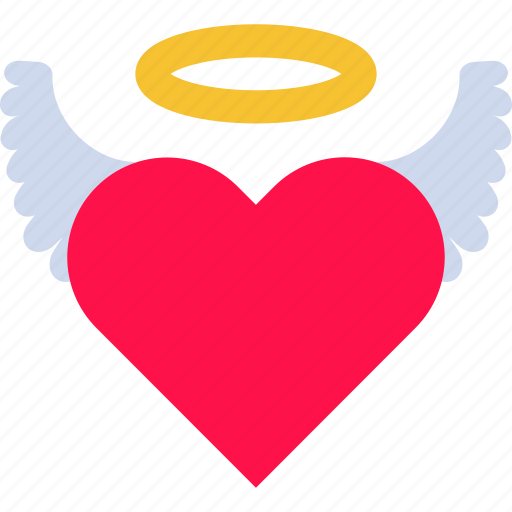 angel, halo, heart, holy, ideal, love, wing icon