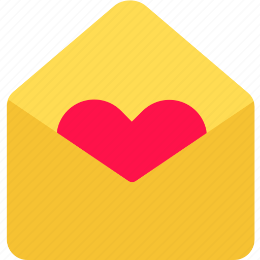 contact, envelope, heart, letter, message, send, valentine icon