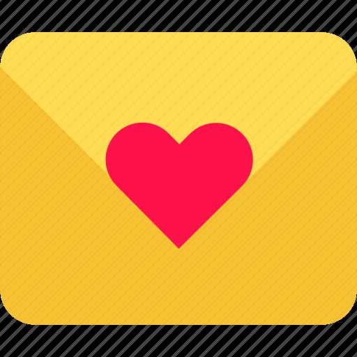 envelope, heart, letter, love, message, send, valentine icon