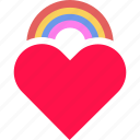 color, equality, gay, heart, lgbt, love, rainbow icon