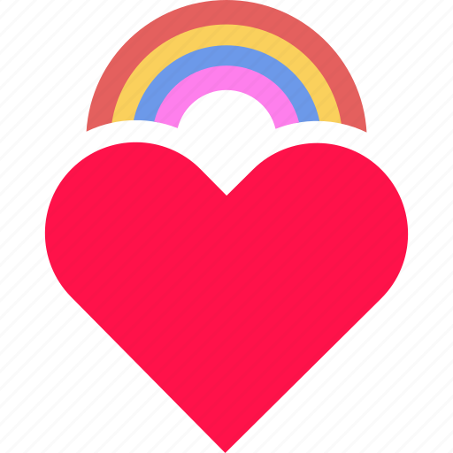 gay, heart, lgbt, love, queer, rainbow, valentine icon