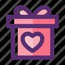 box, box gift valentine, gift, love, present, valentine, valentine day icon
