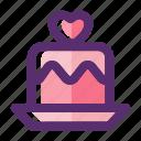 birthday, cake, love, valentine, valentine day, wedding, wedding cake icon