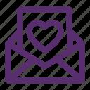 envelope, heart, letter, love, love letter, message, valentine icon
