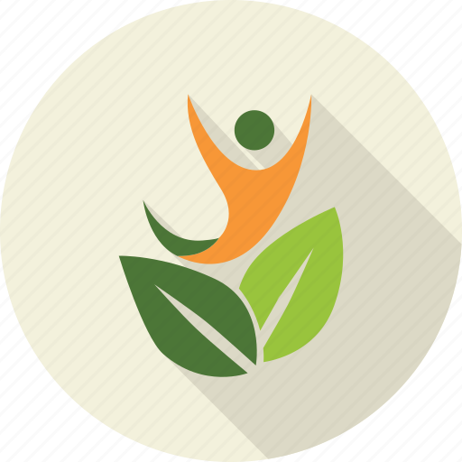 environment, green, leaves, love, man, nature, person icon
