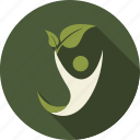 green, happy, leaf, leaves, love, nature, person icon