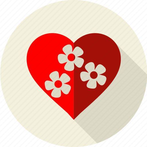 environnement, flower, green, heart, love, nature, red icon