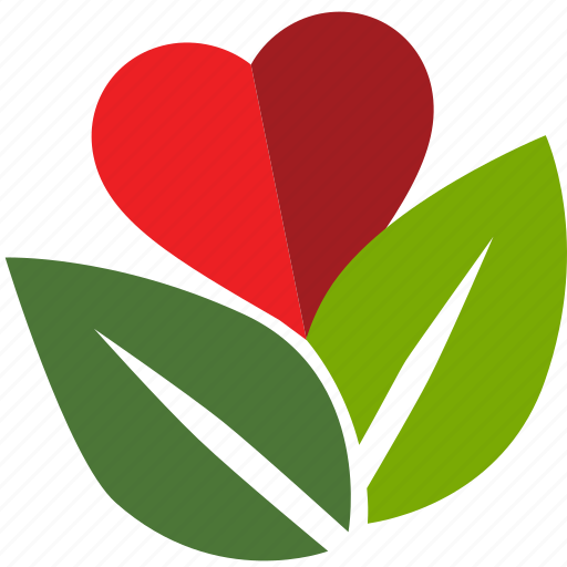 environment, green, heart, leaves, love, nature, tree icon