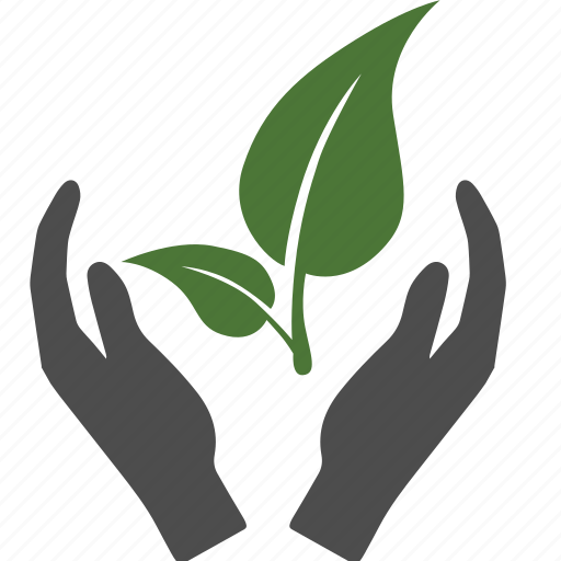 green, guardar, hand, leaf, leaves, love, nature, save icon