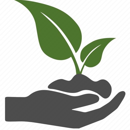 green, hand, leaf, leaves, love, nature, soil icon