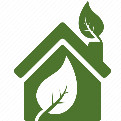 green, houme, house, leaf, leaves, love, nature icon