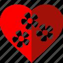 environnement, flower, green, heart, love, nature, red
