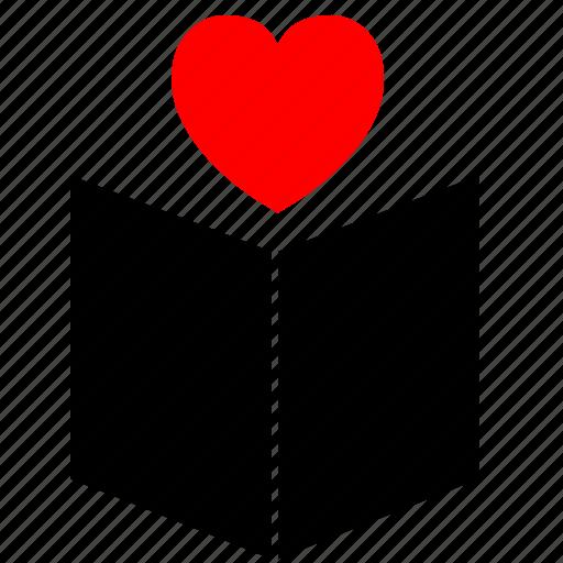 book, card, cover, heart, love icon