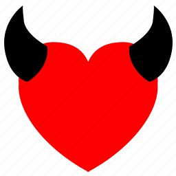 devil, heart, hell, love icon