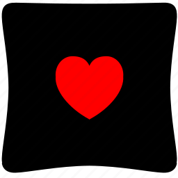 cushion, heart, home, love, rest, sleep icon