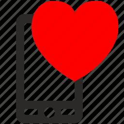 call, heart, love, mobile, smartphone icon