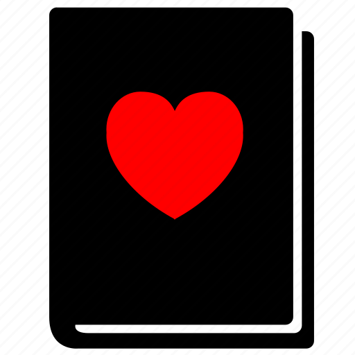 book, cover, heart, loving, poetry, read, reading icon