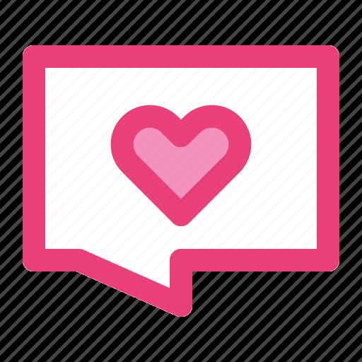 chat, communication, heart, love, message, romance, valentine icon