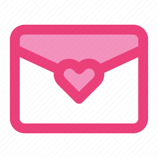 email, envelope, heart, love, mail, romance, valentine icon