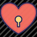 heart shaped, love secret, padlock, privacy, relationship icon