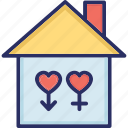 happy family, happy home, love home, heart sign, house icon