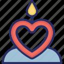 burning candles, candle light, candles, illuminated, spiritual icon