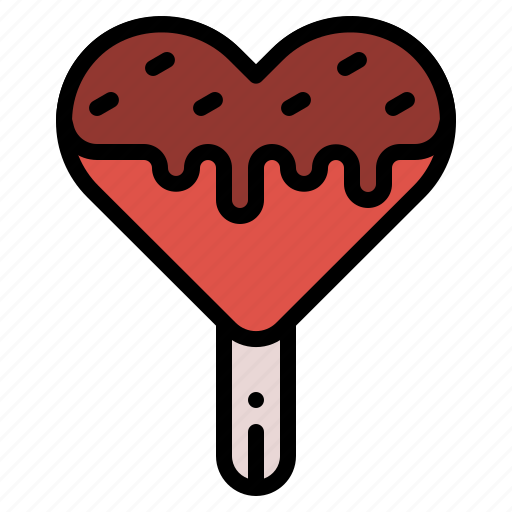 Cream, heart, ice, popsicle, sweet icon - Download on Iconfinder