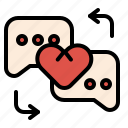 chat, conversation, love, massage, sweet icon
