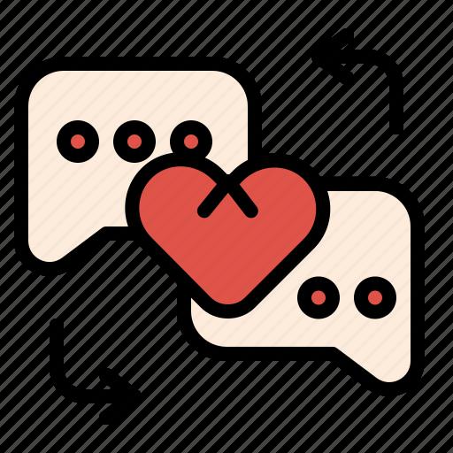Chat, conversation, love, massage, sweet icon - Download on Iconfinder