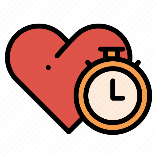 Clock, heart, love, time icon - Download on Iconfinder