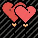 balloon, heart, love, valentine