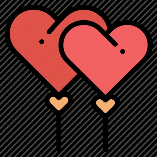Balloon, heart, love, valentine icon - Download on Iconfinder