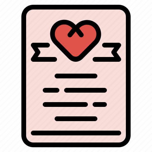 Certificate, love, marriage, wedding icon - Download on Iconfinder