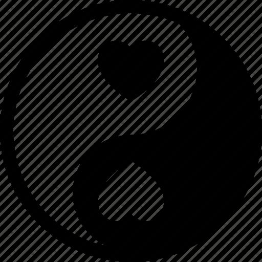 chinese symbol, taijitu, taoism, yin yang icon