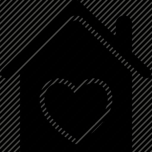 happy family, happy family vector, happy home, heart sign, house, love home icon