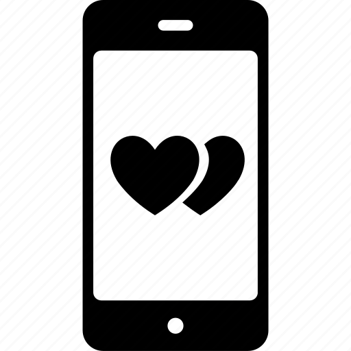 love chatting, love message, mobile screen, online love icon