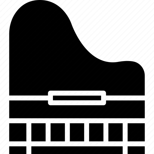 clavichord, grand piano, harpsichord, musical instrument icon
