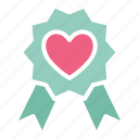 heart, heart badge, insignia icon