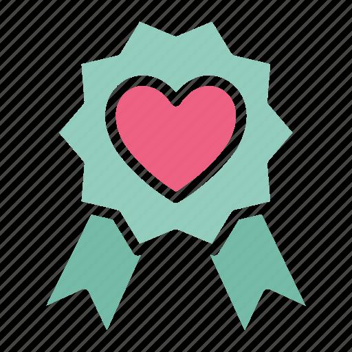heart, heart badge, insignia icon