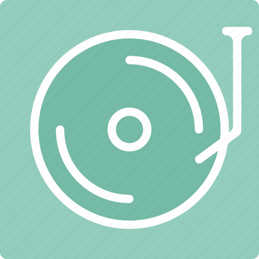 multimedia, music, record player, turntable icon