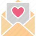 love card, love letter, valentine card, valentine greeting icon