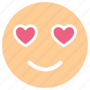 emoji, emoticon, happy smiley, in love smiley icon