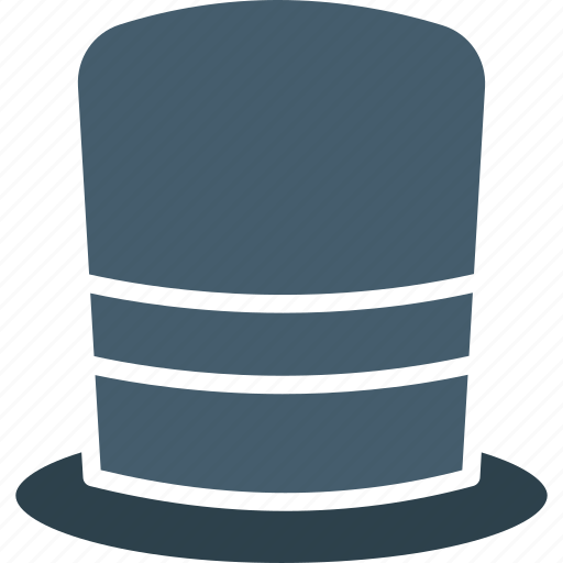 beaver hat, high hat, tall hat, top hat icon